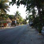 Street by the beach. Tulum, Mexico