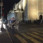 Horse-drawn carriages in Merida