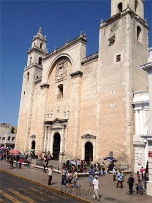 Merida Cathedral - Easter in Merida