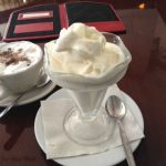 A mocha and ice cream at Cafe Cubana