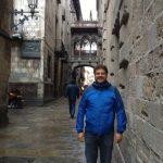 Alongside the Roman wall