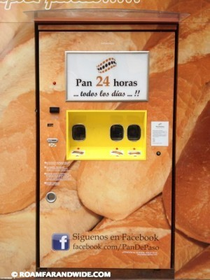 Pamplona, Spain Baguette vending machine!