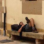 Tired pilgrim.