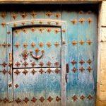 Door in tiny village.