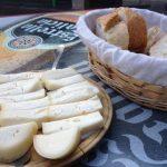 Fresh homemade cheese.