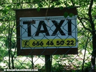 Taxi sign on the Camino