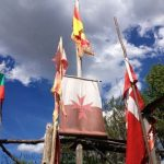 Flags in Manjarin Alburgue