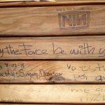 Graffiti in Camino shelter.