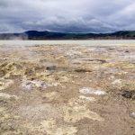 Bubbling pools on the edge of Lake Rotorua