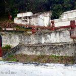 Cemetery in village.
