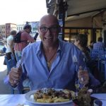 Max at dinner in Chania.