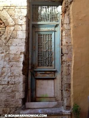 Old door in Chania, Crete, Greece