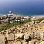 View from the castle. Agia Roumeli below.