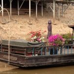 Boat in port. Phnom Penh, Cambodia