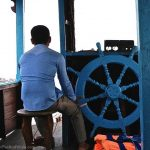Traveling to Silk Island on the Mekong River