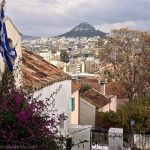 Overlooking Athens from nearby the Acropolis