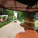 Tuk tuk ride to the silk weavers.
