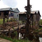 Local houses. Koh Dach, Cambodia