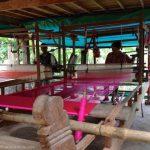 Weaving silk, Koh Dach, Cambodia