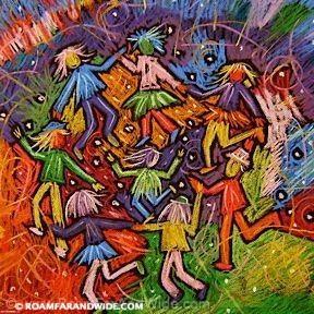 Dance II - Original Artwork. Copyright 2013 RoamFarAndWide. All Rights Reserved.