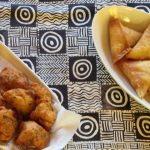 Chilli bites and samosas.