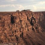 Nomad truck above canyon