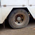 Flat tire! Boo!