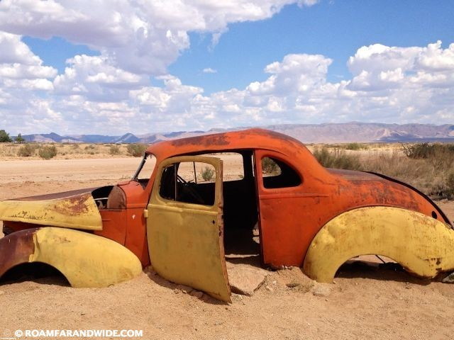 American Cars in the desert.