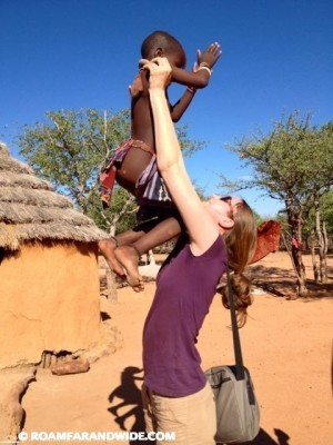 Playing with Himba kids