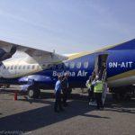Our plane from Kathmandu