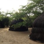 Luxury huts.