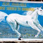 Pony mural.