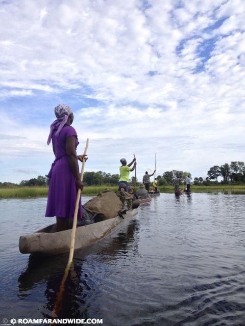 Mokoro ride: Okavango Delta