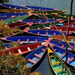 Boats on Phewa Lake, Pokhara, Nepal