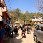 Approaching the Swayambhunath (Monkey Temple)