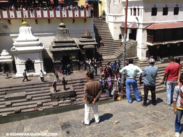 Cremation site outside Pashupatinath Temple