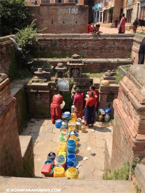 Finally, the water arrives in Bhaktapur, Nepal