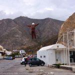 Hanging Judas in Perissa, Santorini