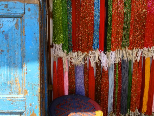 Glass beads for sale in Bhaktapur, Nepal