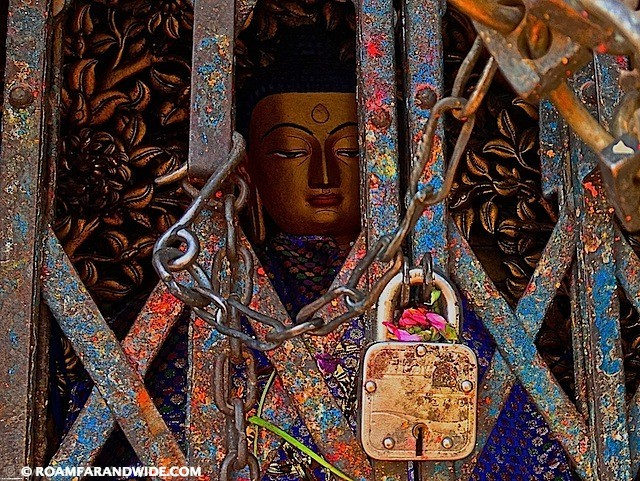 Buddha at the Monkey Temple