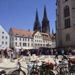 Regensburg Dom in distance.