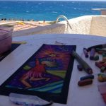 Drawing table in Agia Roumeli, Crete