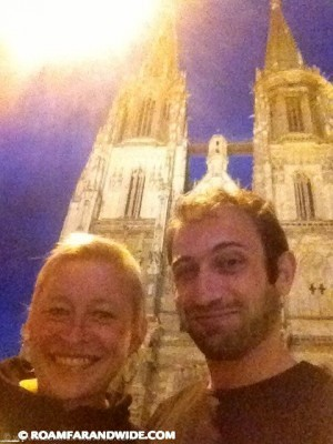 In front of Regensburg Dom Cathedral