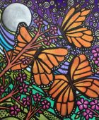 Butterflies and Moon Copyright 2015 Laura Walker Scott