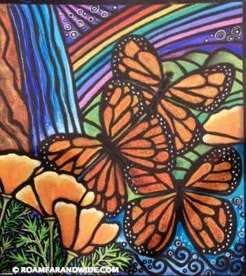 """Butterflies and Rainbow"" Original artwork by RFAW. Copyright 2015."