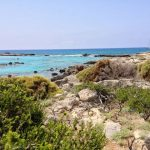 To the left of Elafonisi Beach in Crete, Greece