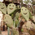 Happy cacti at Elafonisi Beach, Crete, Greece