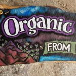 ...and after. Organic honey sign
