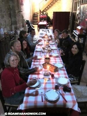 Pilgrim dinner on the Camino de Santiago