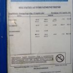 Bus schedule for Lenti